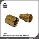 Brass Quick Disconnect Garden Hose Adapter Set -ICA-12