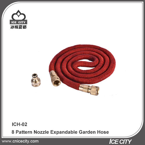 8 Pattern Nozzle Expendable Garden Hose-IC-H02