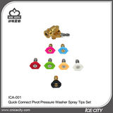 Quick Connect Pivot Coupler Pressure Washer Spray Tips Set -ICA-001