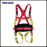 Adjustable fall protection with lanyard full body safety harness -WL-6105