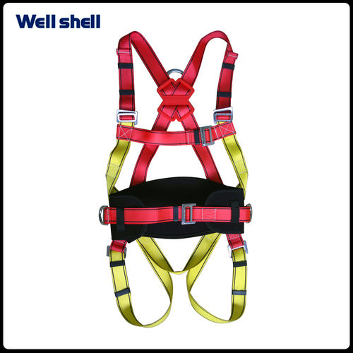 Adjustable fall protection with lanyard full body safety harness-WL-6105