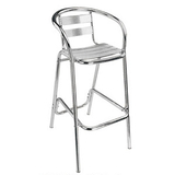 Aluminum chair. Compiled wicker chair -CHO-125-1