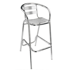 Aluminum chair. Compiled wicker chair-CHO-125-1
