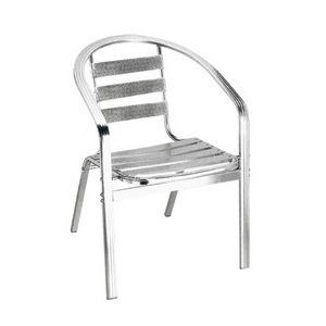 Aluminum chair. Compiled wicker chair-CHO-124-5