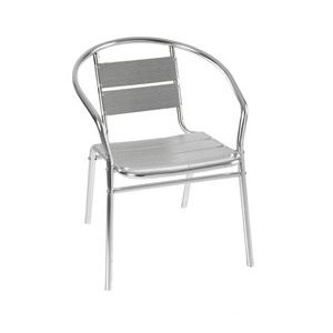 Aluminum chair. Compiled wicker chair-CHO-124