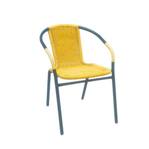 Aluminum chair. Compiled wicker chair-CHO-124-2A