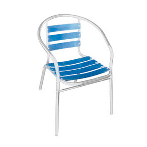 Aluminum chair. Compiled wicker chair-CHO-124-7