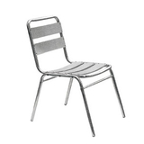 Aluminum chair. Compiled wicker chair -CHO-125