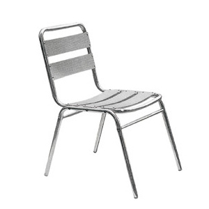 Aluminum chair. Compiled wicker chair-CHO-125