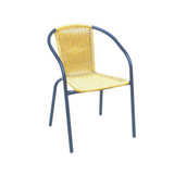 Aluminum chair. Compiled wicker chair -CHO-124-2C