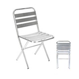 Aluminum chair. Compiled wicker chair -CHO-125-2