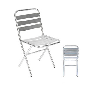 Aluminum chair. Compiled wicker chair-CHO-125-2