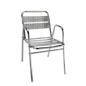 Aluminum chair. Compiled wicker chair-CHO-124-9