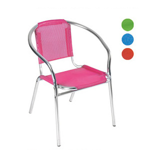 Aluminum chair. Compiled wicker chair-CHO-124-8