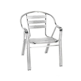 Aluminum chair. Compiled wicker chair -CHO-124-1