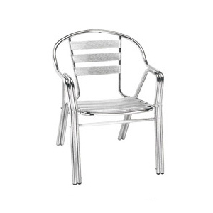 Aluminum chair. Compiled wicker chair-CHO-124-1