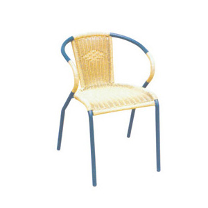 Aluminum chair. Compiled wicker chair-CHO-124-2B