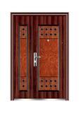 Steel wooden door -喜迎子母门