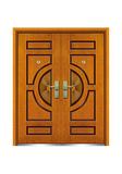 Interior wooden door -FXGM-A105D和和美美对开门