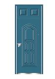 Steel wooden door -双幸福封闭气窗
