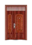 Steel wooden door -龙凤呈祥子母