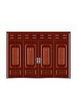 Steel wooden door -龙凤呈祥四开
