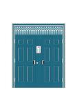 Steel wooden door -六欧对开楼字