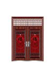 Steel wooden door -迎福对开(正福)