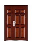 Steel wooden door -新六福子母