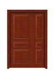 Interior steel wooden door -FX-C301子母门