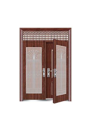 Steel wooden door-皇家复合对开