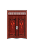 Steel wooden door -灯笼福对开