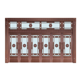 Glass copper art door -BL-9120