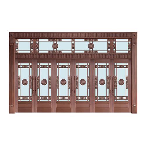 Glass copper art door-BL-9120