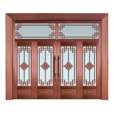 Glass copper art door -BL-9128