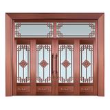 Glass copper art door -BL-9128