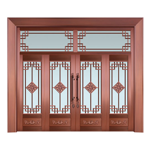 Glass copper art door-BL-9128