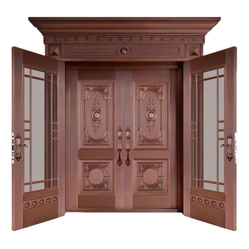 Glass copper art door-BL-9132