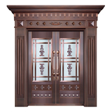 Glass copper art door -BL-9135
