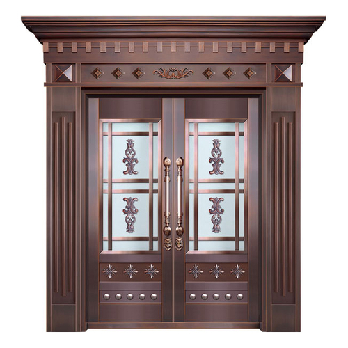 Glass copper art door-BL-9135