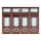 Glass copper art door -BL-9130
