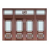 Glass copper art door -BL-9130