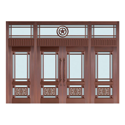 Glass copper art door-BL-9130