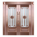 Glass copper art door -BL-9159