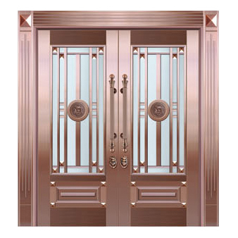 Glass copper art door-BL-9159