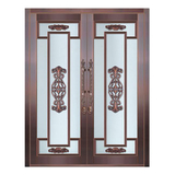 Glass copper art door -BL-9158