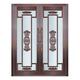 Glass copper art door-BL-9158