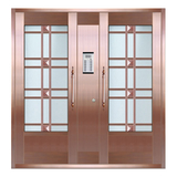 Glass copper art door -BL-9161