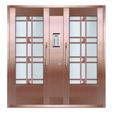 Glass copper art door -BL-9161