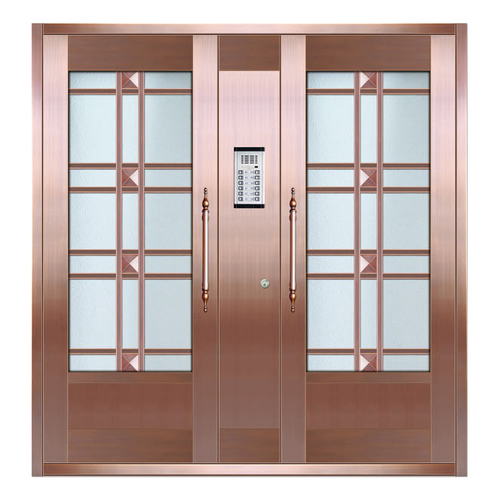 Glass copper art door-BL-9161